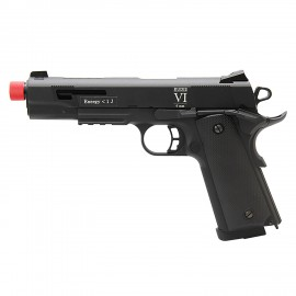 Pistola Airsoft GBB Full Metal Secutor 1911 Rudis VI Black