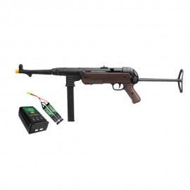 Airsoft SRC MP40 SR-40 Full Metal + Kit Bateria Lipo e Carregador QGK
