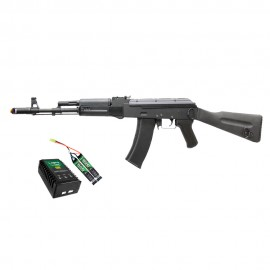 Airsoft SRC AK SR-74 M Full Metal + Kit Bateria Lipo e Carregador QGK