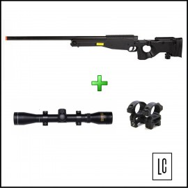 Rifle Airsoft Sniper MB-08A - 6mm - Well + Luneta 4x32 Rossi