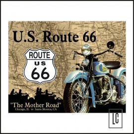 Placa Decorativa Us Route 66 Mother - Mostly Signs