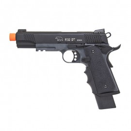 Pistola Airsoft GBB 1911 M.E.U R32 DarkStorm Full Metal Army
