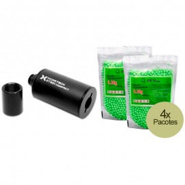 Tracer Airsoft MK2 Compacto FXT301 + BBs Tracer 0.20g